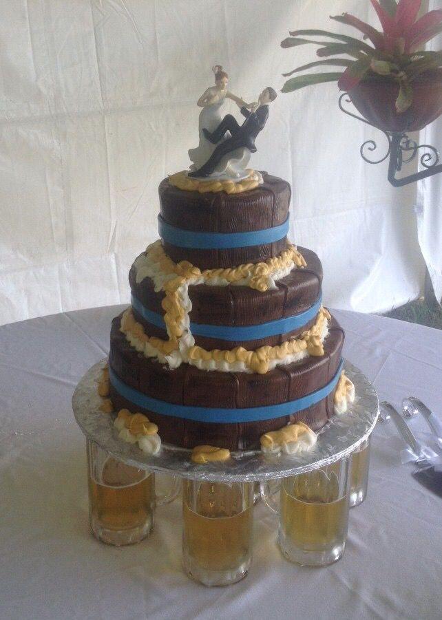 Beer Barrel Wedding Cake Mug Stand From Tampa Delivered To Land O Lakes Florida