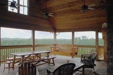 Hunting Lodge - traditional - porch - nashville - William Johnson Architect