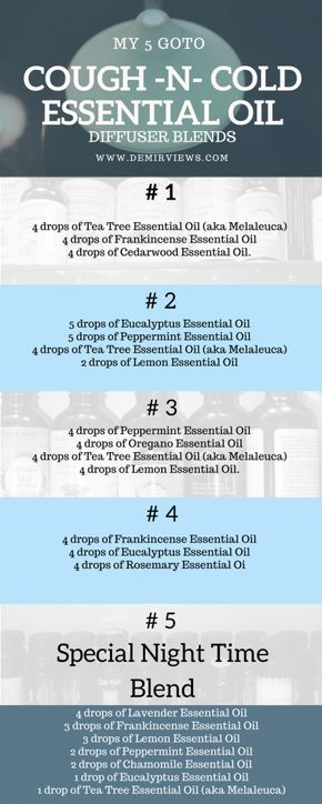 My 5 Goto Cough And Cold Essential Oils Diffuser Blends