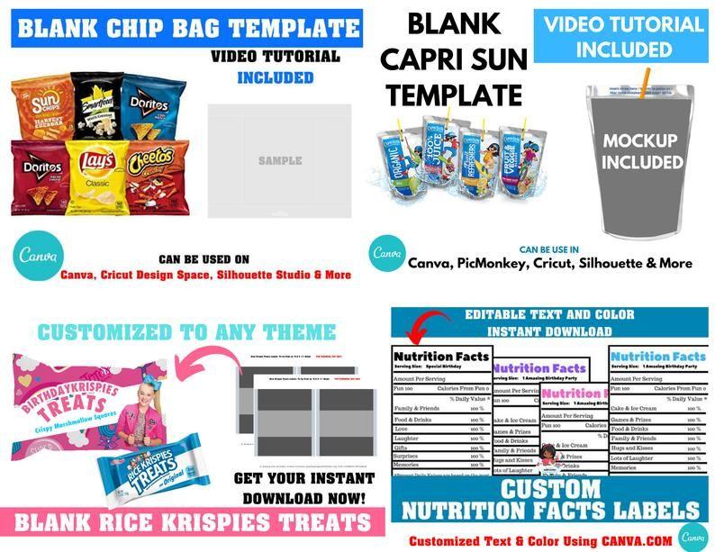 47++ Free chip bag template for cricut ideas