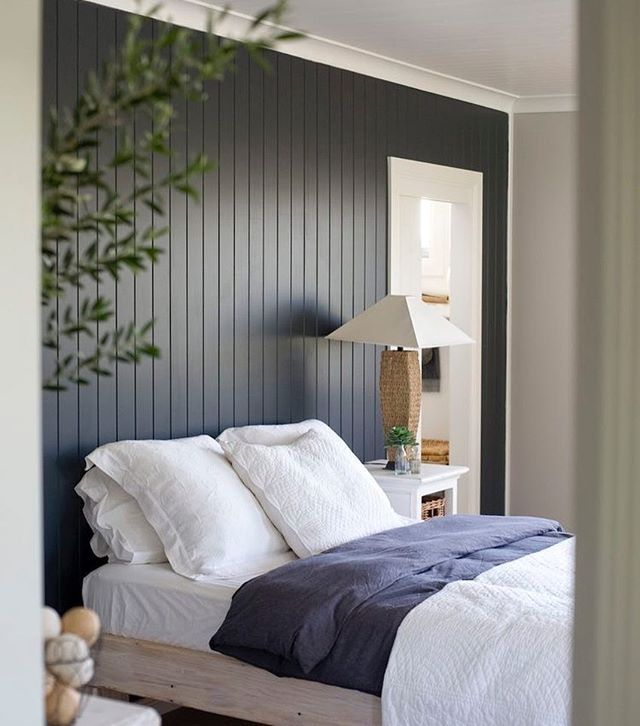 Coastalhome Interior Design: Love The Use Of Wood Paneling In This Bedroom! Thinking