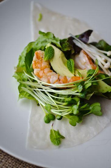 how to make shrimp salad rolls