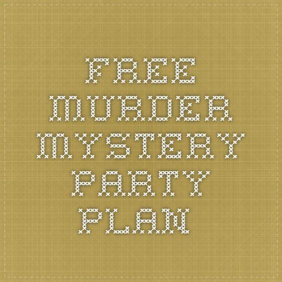 Pin On Murder Mystery Dinner