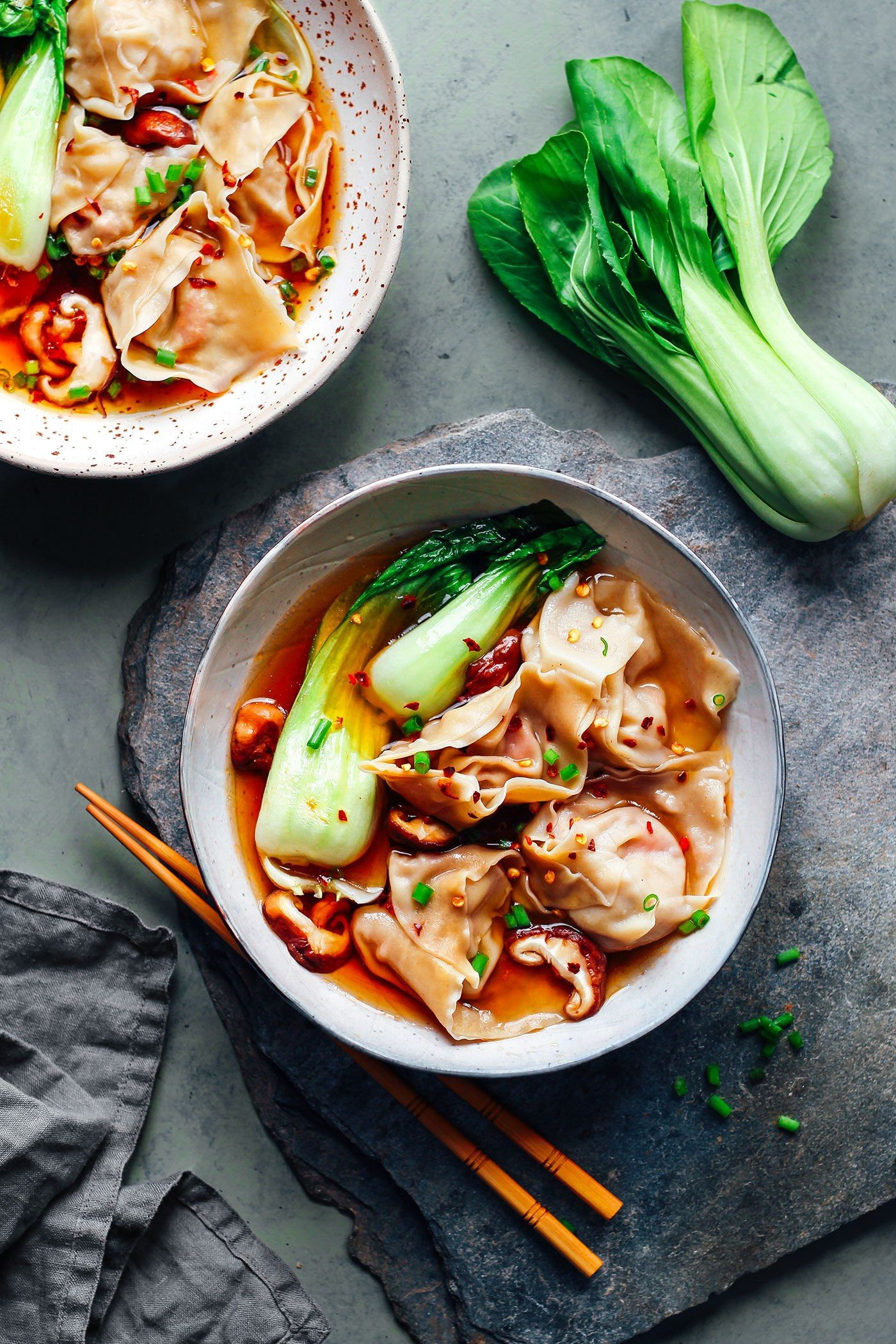 Hot Sour Jackfruit Wonton Soup