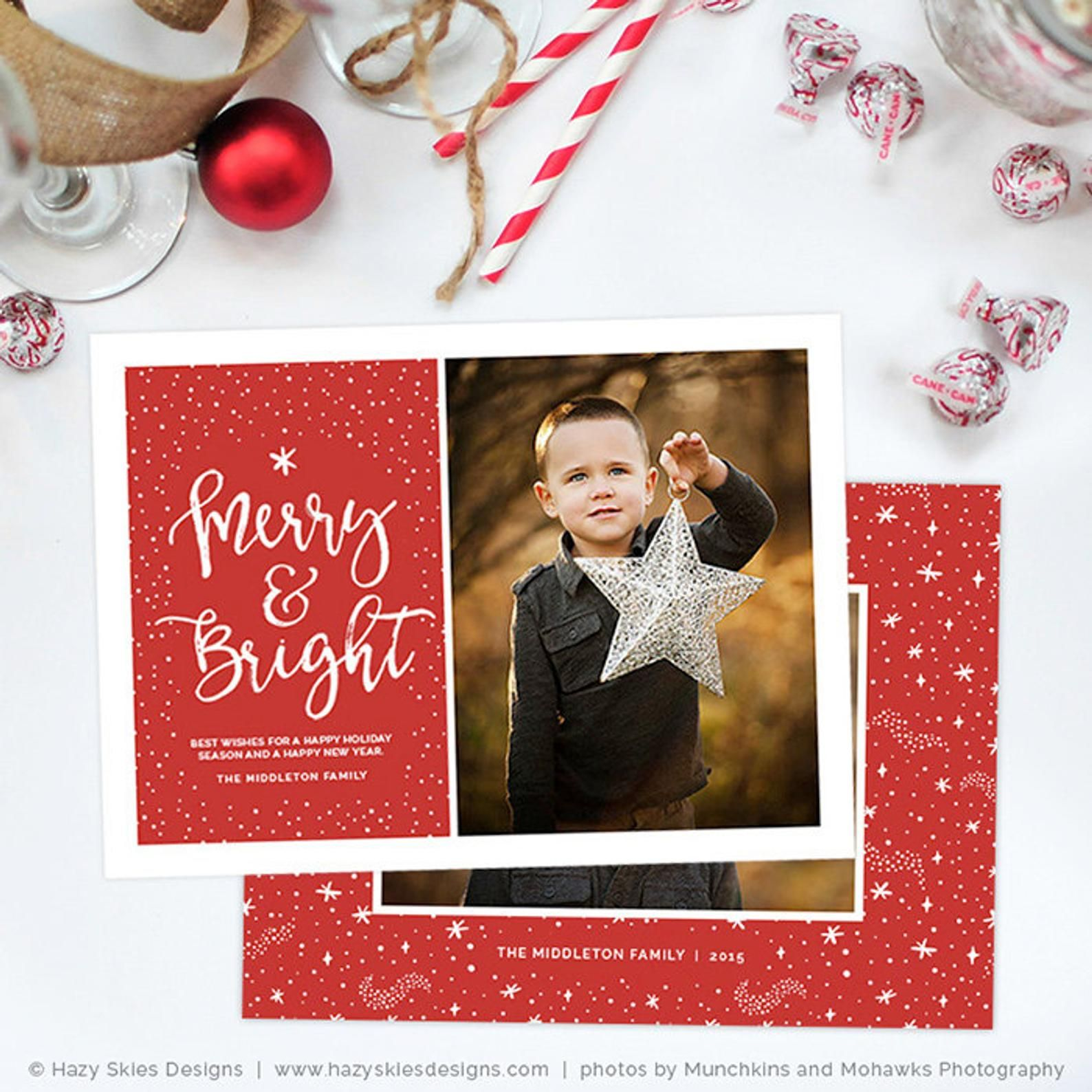 Christmas Card Template For Photographers Christmas Card Etsy Christmas Card Template Holiday Card Template Photoshop Christmas Card Template