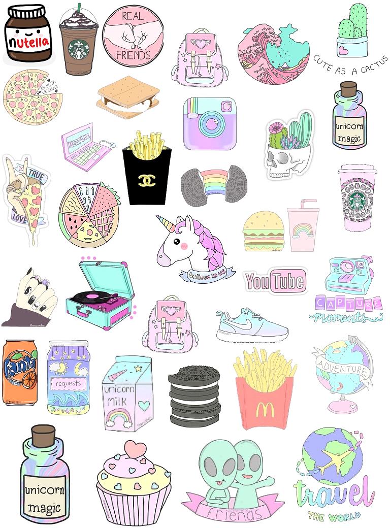 Si te gustan los stickers tumblr ,esta imagen es muy buena para ti ...