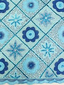 Empire Textiles African Georges - Lace George TQ - Turquoise PRICE - £120.00