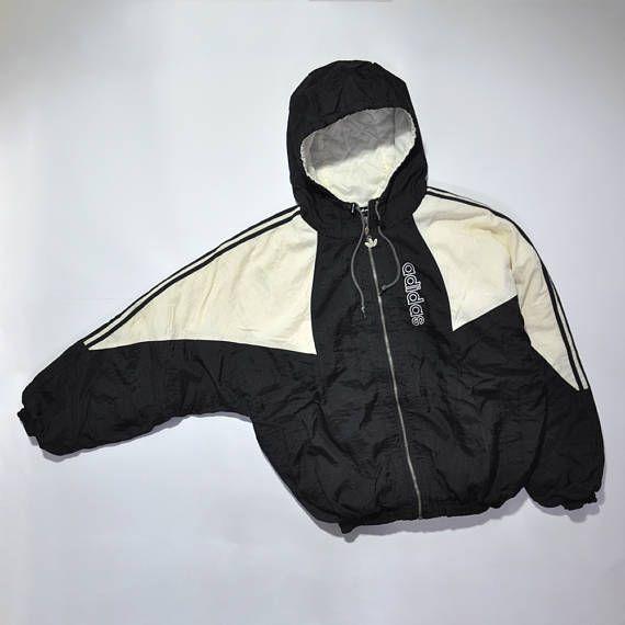 7bdde9c7f8cf9 Vintage ADIDAS Hip Hop Bomber Coat Jacket // Retro ADIDAS // Old ...