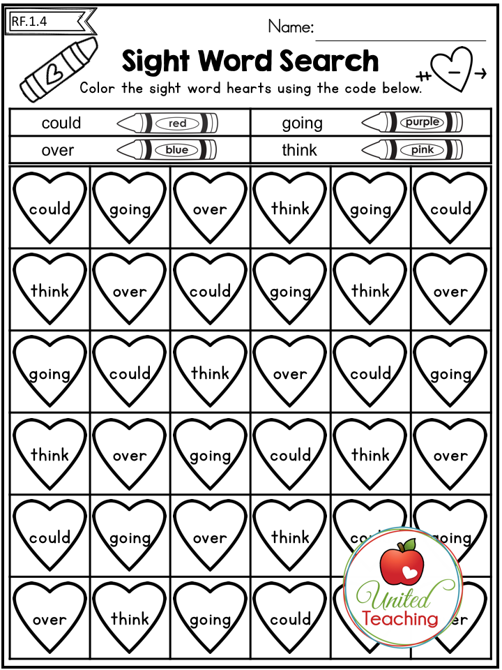 Valentine's Day 1st Grade No Prep Language Arts Worksheets ...