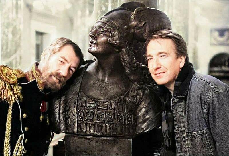 Alan Rickman And Ian Mckellen Behind The Scenes Of Rasputin 1995 Sir Ian Mckellen Alan Rickman Ian Mckellen