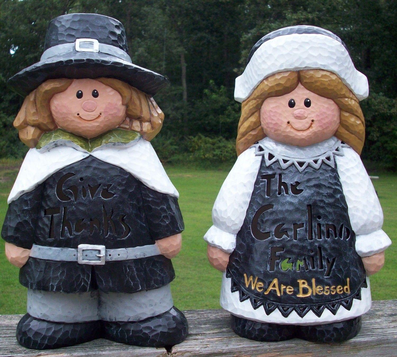 *THANKSGIVING ~ Personalized Thanksgiving Pilgrim Couple ...