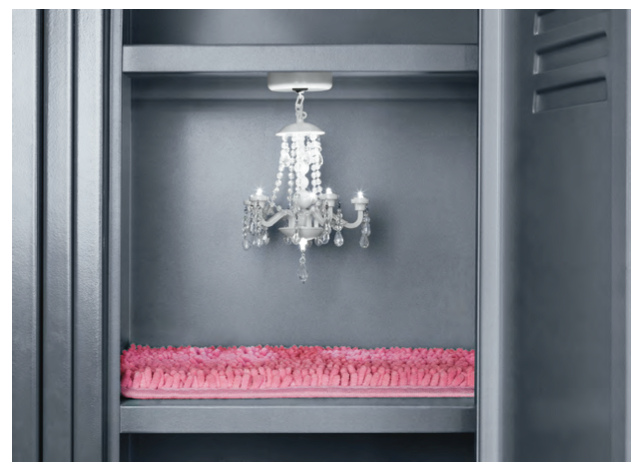 9 totally ridiculous but totally awesome school supplies locker a magnetic locker chandelier with an accompanying shag locker rug we loled when aloadofball Choice Image