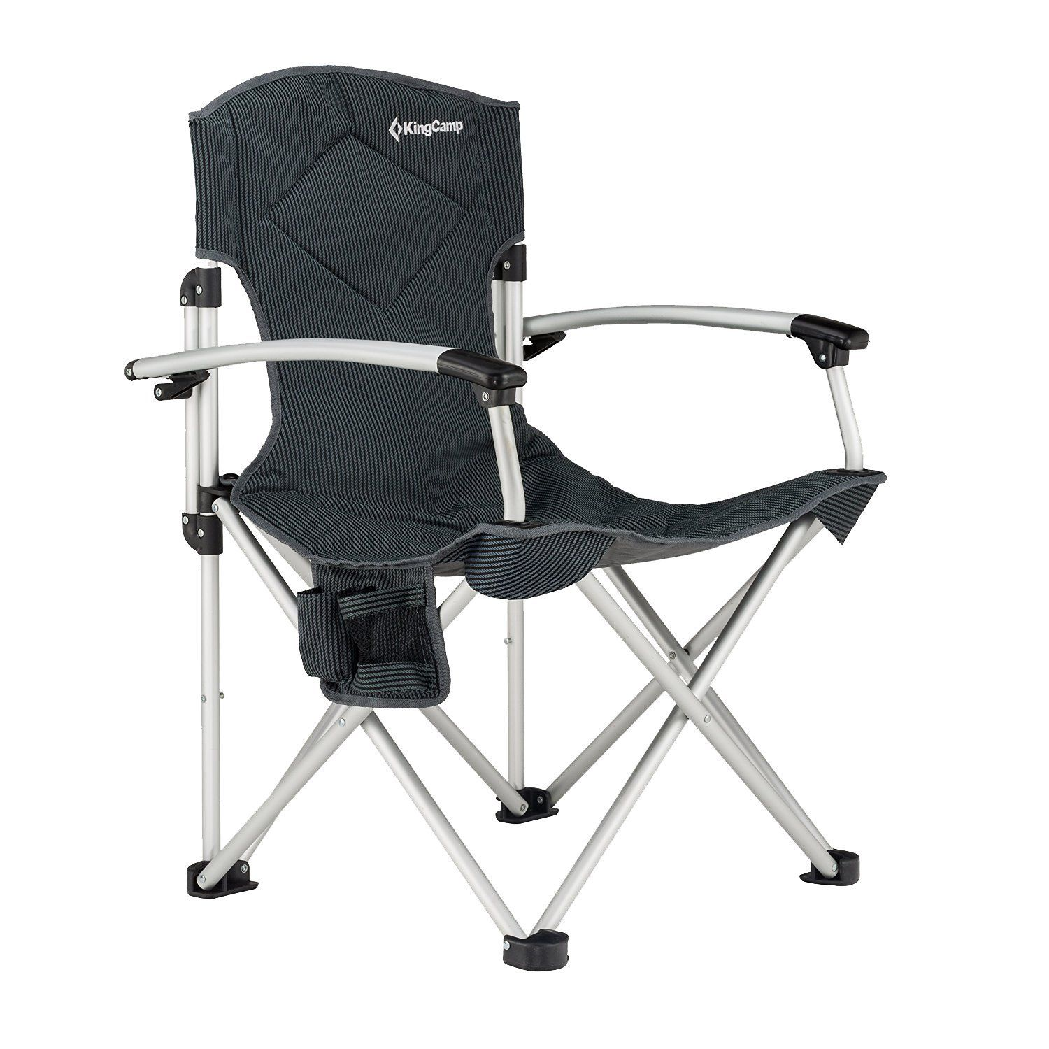 KingCamp Aluminum Portable Heavy Duty Folding Camping Chair Carry