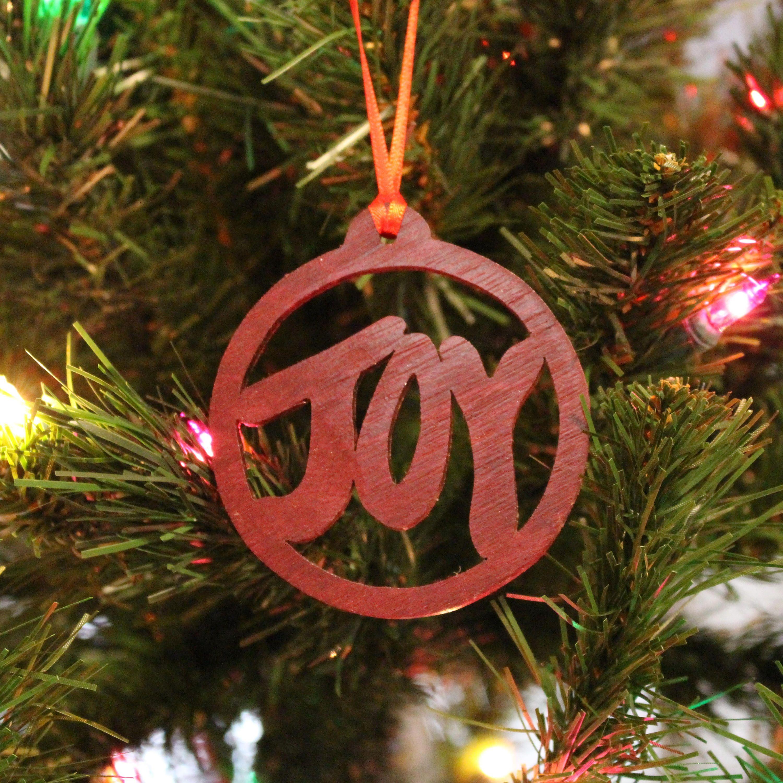 Ornament Joy Padauk Etsy Xmas Tree Ornament Ornaments Tree Ornaments