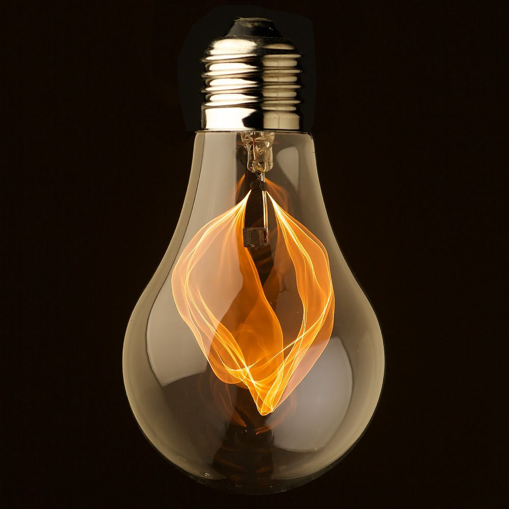 Vintage Clear Glass Flicker Flame Bulb This Lamp Is A Functional Vintage Filament Bulb That Creates A Candle Type Fli Light Bulb Art Bulb Ceiling Lamp Design