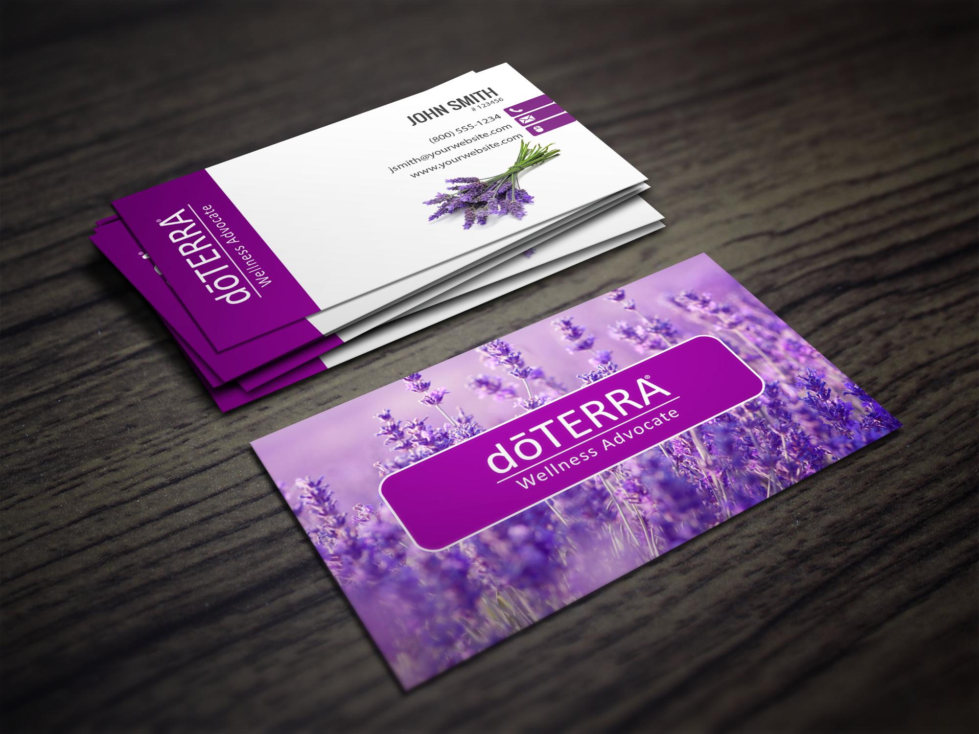Doterra Business Card In Lavendar Doterra Business Cards Template Doterra Business Cards Free Business Card Templates