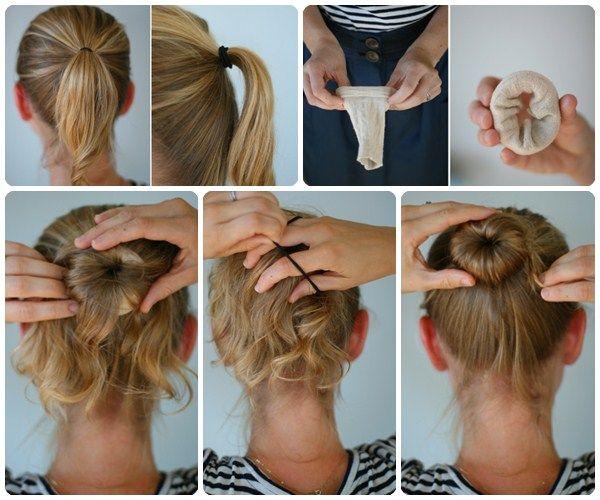 cómo hacer un moño paso a paso | moños, peinados y peinados lindos
