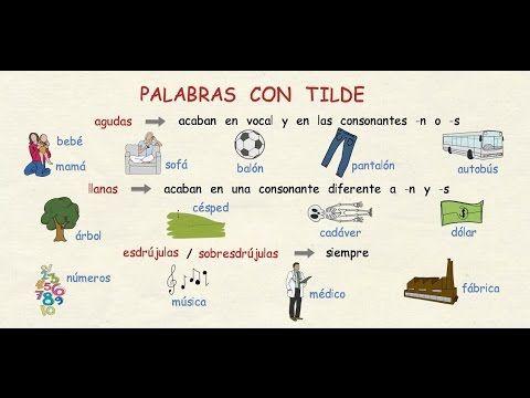 Aprender Español Reglas De Acentuación Nivel Intermedio Youtube Reglas De Acentuación Aprender Español Gramática Española