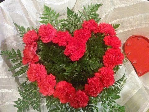 Corazón arreglo de flores San Valentín 2016 - YouTube