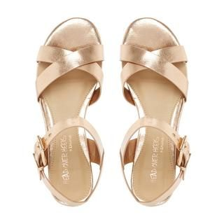 175d9fc276d968 HEAD OVER HEELS LADIES NADIE - Block Heel Cross Strap Sandal - rose gold
