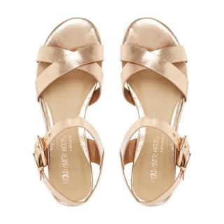 f843f35d12b2 HEAD OVER HEELS LADIES NADIE - Block Heel Cross Strap Sandal - rose gold