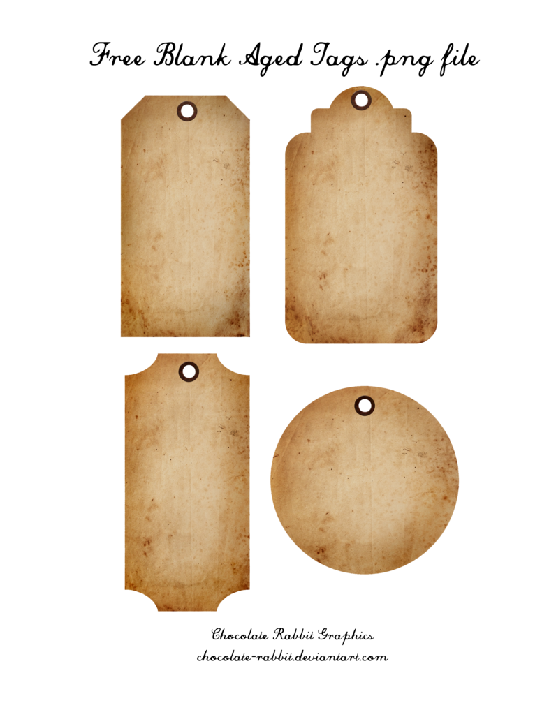 Free Aged Tags - PNG Freebie by chocolate-rabbit on ...