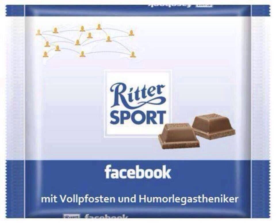 ritter sport facebook mit vollpfosten und humorlegastheniker fakes. Black Bedroom Furniture Sets. Home Design Ideas