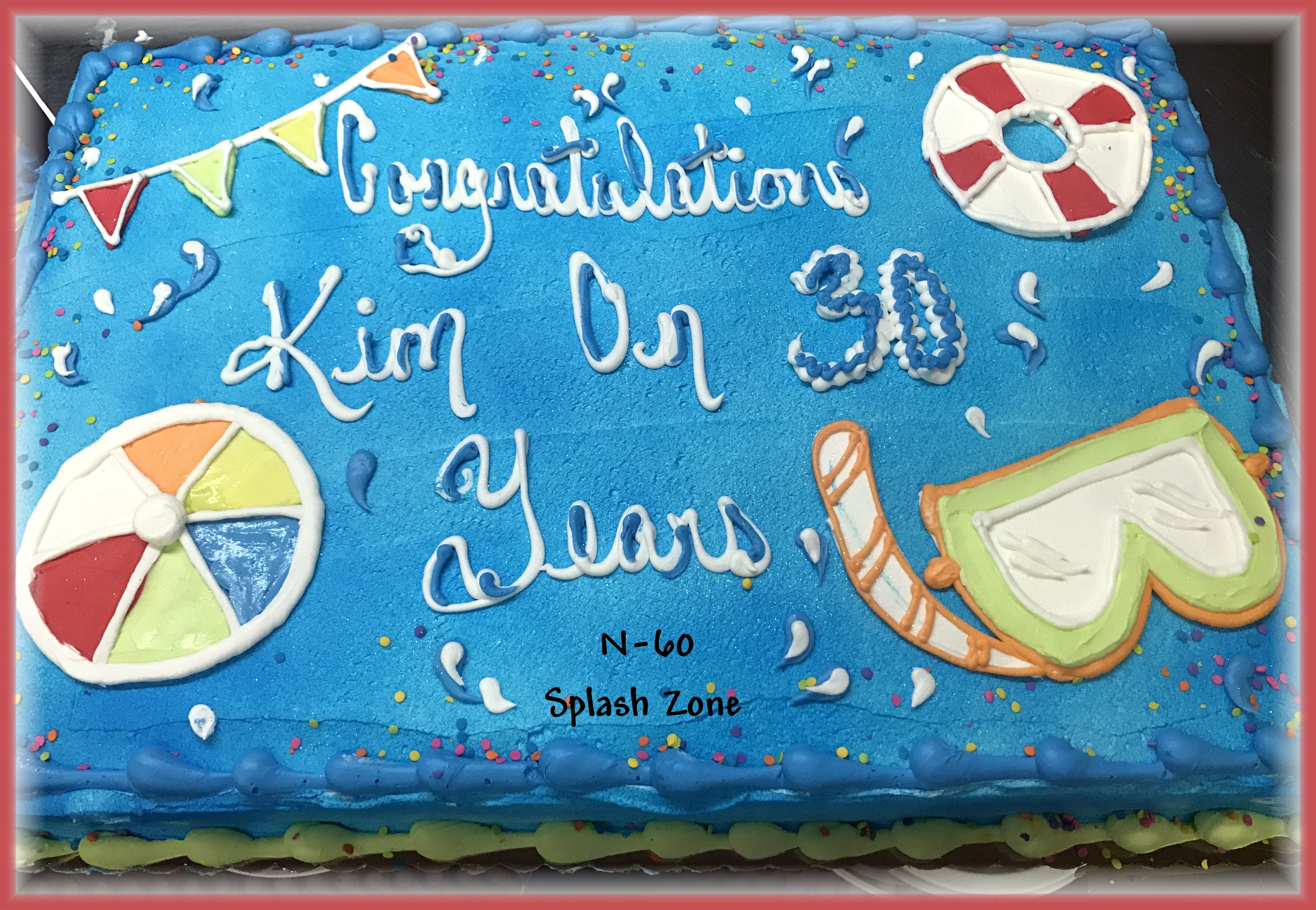Splash Zone Pool Party Cake By Rush City Bakery Rush City Mn