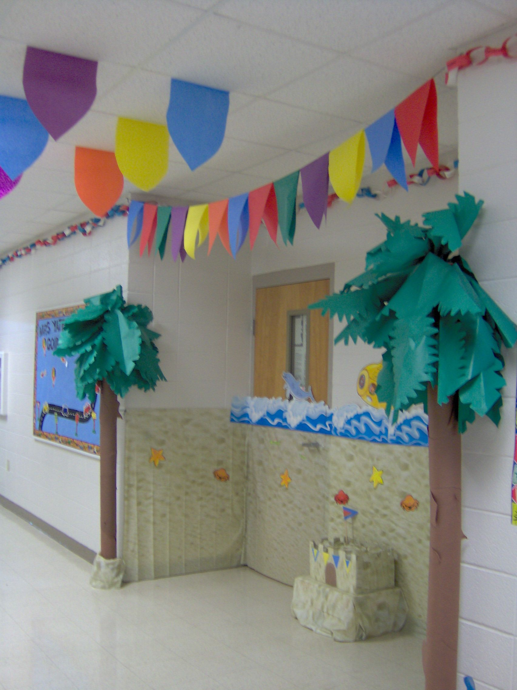 Ocean Classroom Decor ~ Classroom ocean theme change my tree to have this top