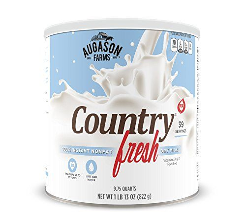 Augason Farms Country Fresh 100 Real Instant Nonfat Dry Milk 29 oz 10 Can -- More info could be found at the image url. (Note:Amazon affiliate link)