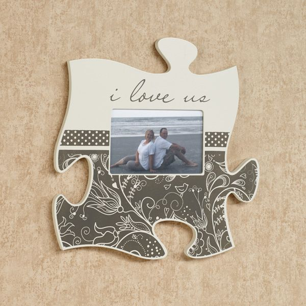 The I Love Us Photo Frame Puzzle Piece Wall Art Will Display Your