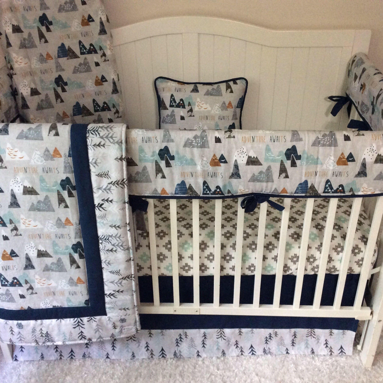 Boy Crib Bedding Little Man Antlers Deer Skin Navy Buck Red Navy Plaid Navy Baby Boy Crib Bedding Baby Boy Cribs Baby Boy Bedding