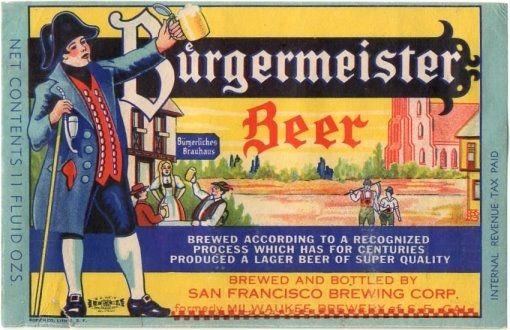 Burgermeister Beer Metal Beer Signs Beer Lager Beer