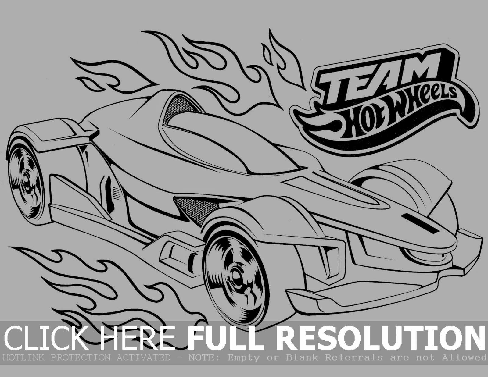 Hot Wheels Pose A Very Modern Form Coloring Picture For Kids