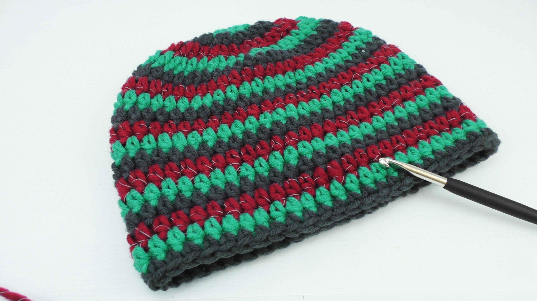 Mütze häkeln 3 farbig Myboshi Style