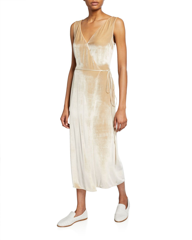 Vince Panne Velvet Wrap Dress Wrap Dress Velvet Wrap Dress Wrap Midi Dress [ 1500 x 1200 Pixel ]