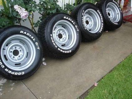 Chevrolet Rally Wheels With Cooper Cobra Gt Tires 1956 Chevy Bel