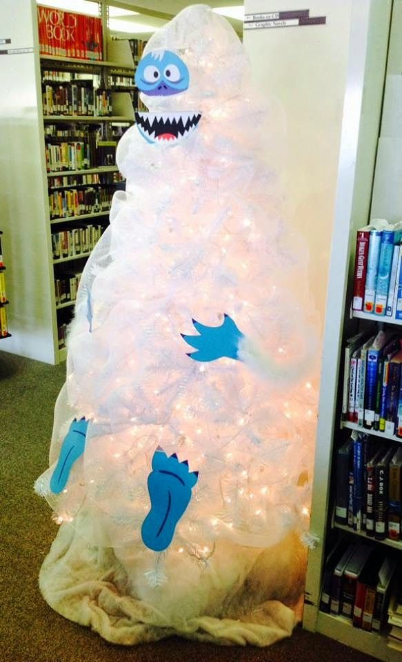 Bumble the Abominable Snowman Christmas Tree Library Display