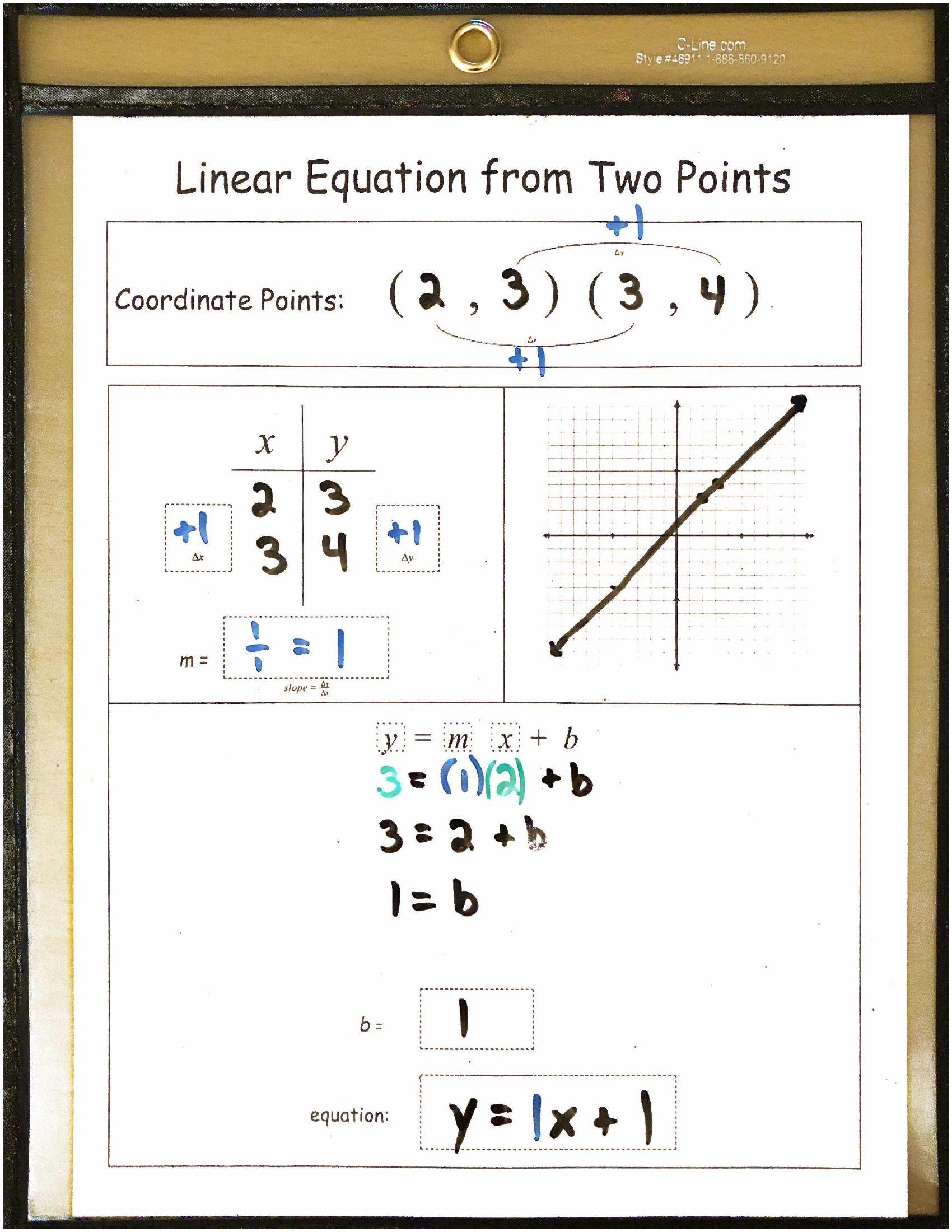 Algebra 1 Reusable Dry Erase Pocket Guides