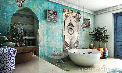 Marokkanisches Badezimmer - Downloaden Sie von ueber 28 Millionen ...