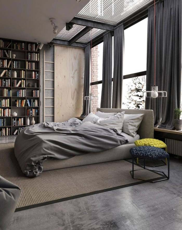 man cave // city life // urban men // bedroom // city style // city ...