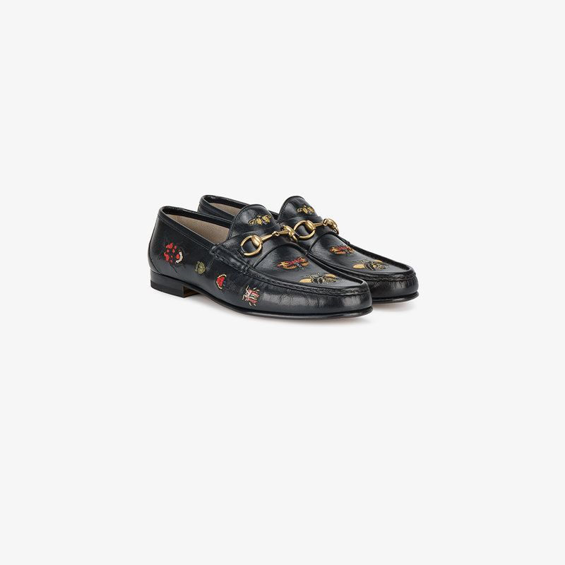 a6887e7c GUCCI EMBROIDERED LEATHER HORSEBIT LOAFER. #gucci #shoes # | Gucci ...