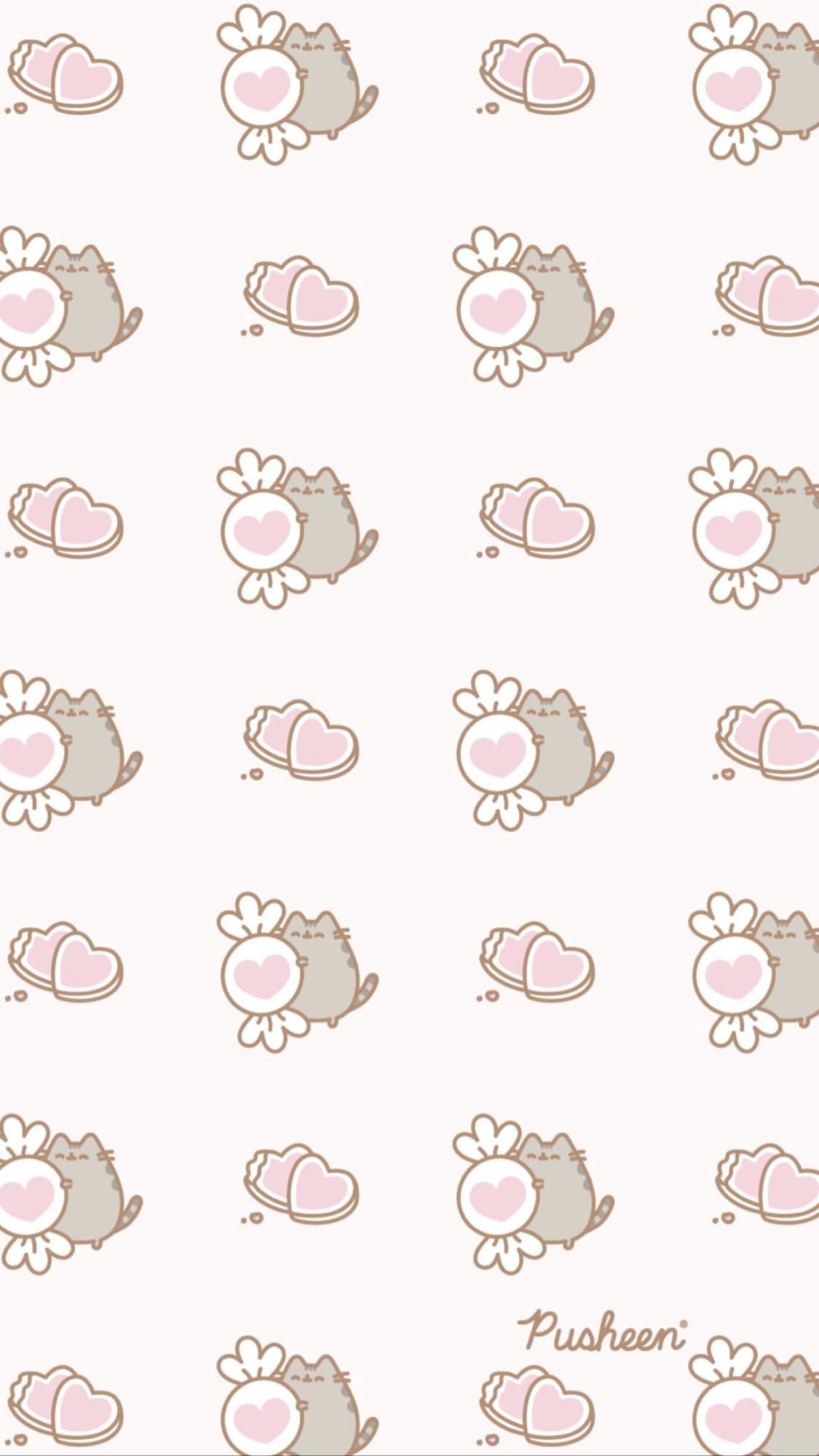 Valentine S Day Pusheen Wallpaper Pusheen Cute Pusheen Valentines Kawaii Wallpaper