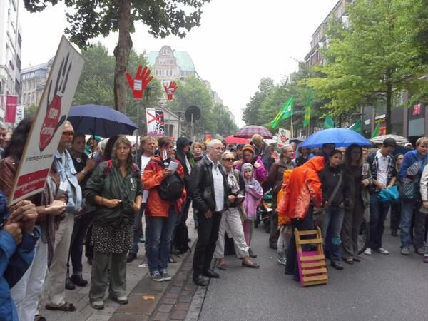 Anti-fracking-demo in hamburg