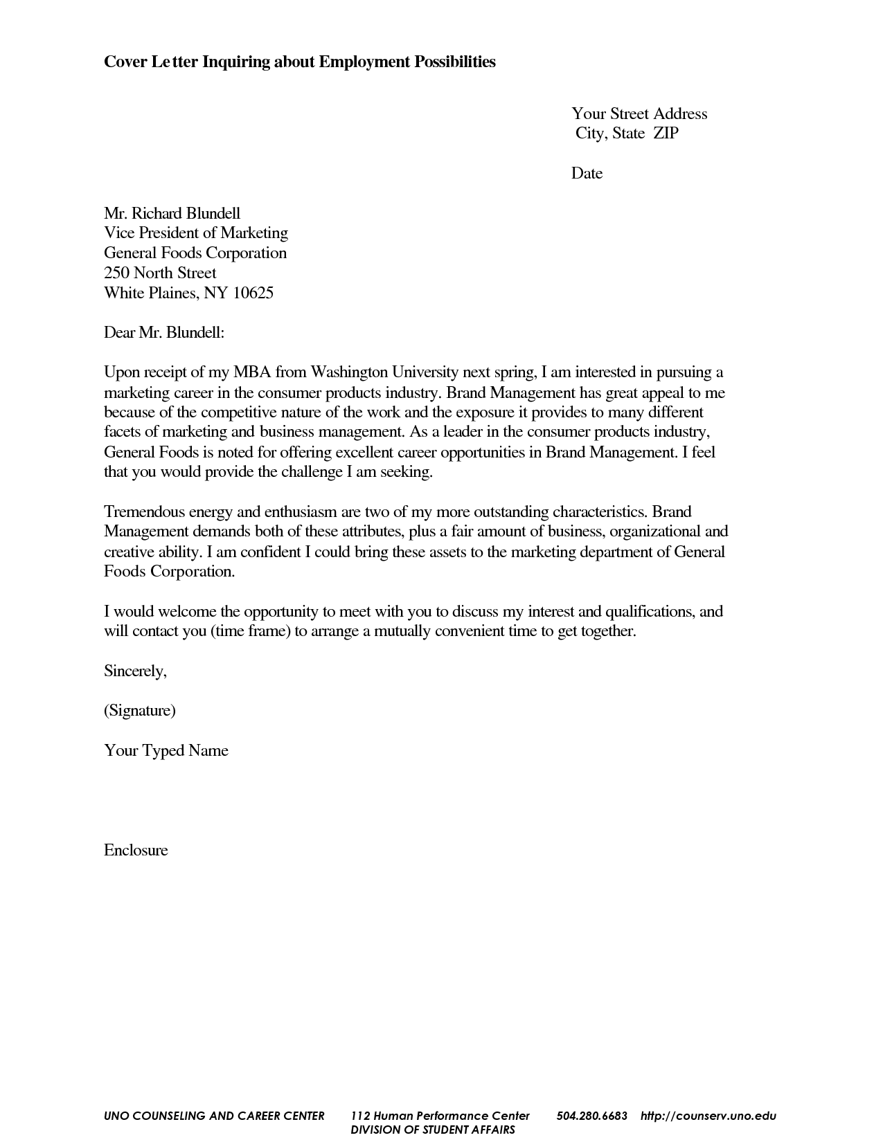 cover letter for general job inquiry opening examples their time sample