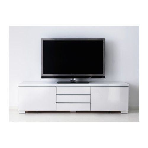 BestÅ Burs Tv Unit High Gloss White Ikea Look At All