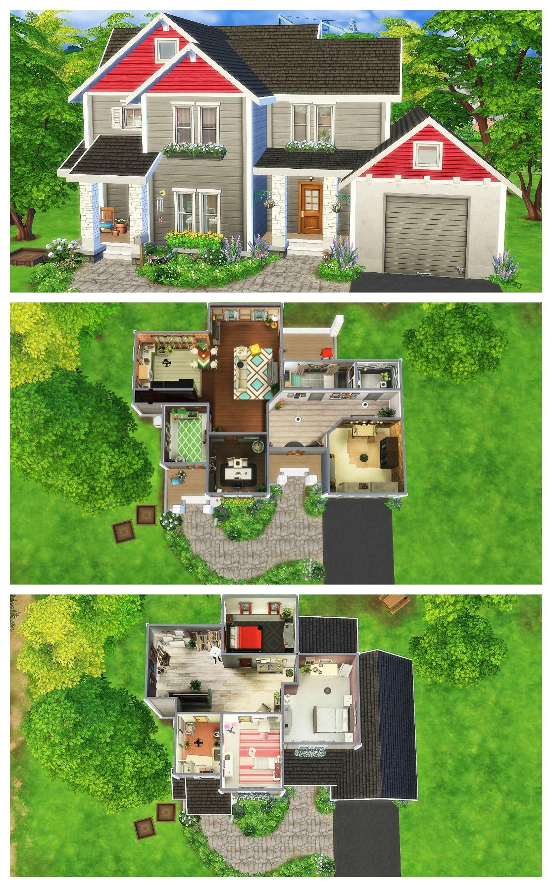 Craftsman House Sims 4 Speed Build Maison Sims Sims 4 Maison Idee Plan Maison