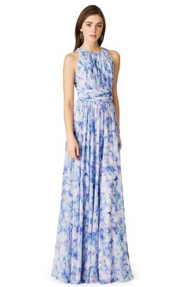 07179e23a7a3 Hamptons Summer Wedding—beach wedding guest dresses-Badgley Mischka Water  Lilies Maxi Dress