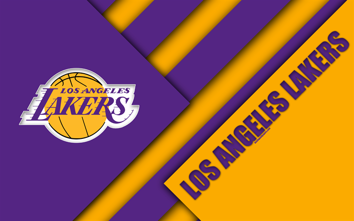 Download Wallpapers Los Angeles Lakers 4k Logo Material Design American Basketball Club Purple Yellow Abstraction Nba Los Angeles California Usa Baske Lakers Logos Los Angeles Lakers