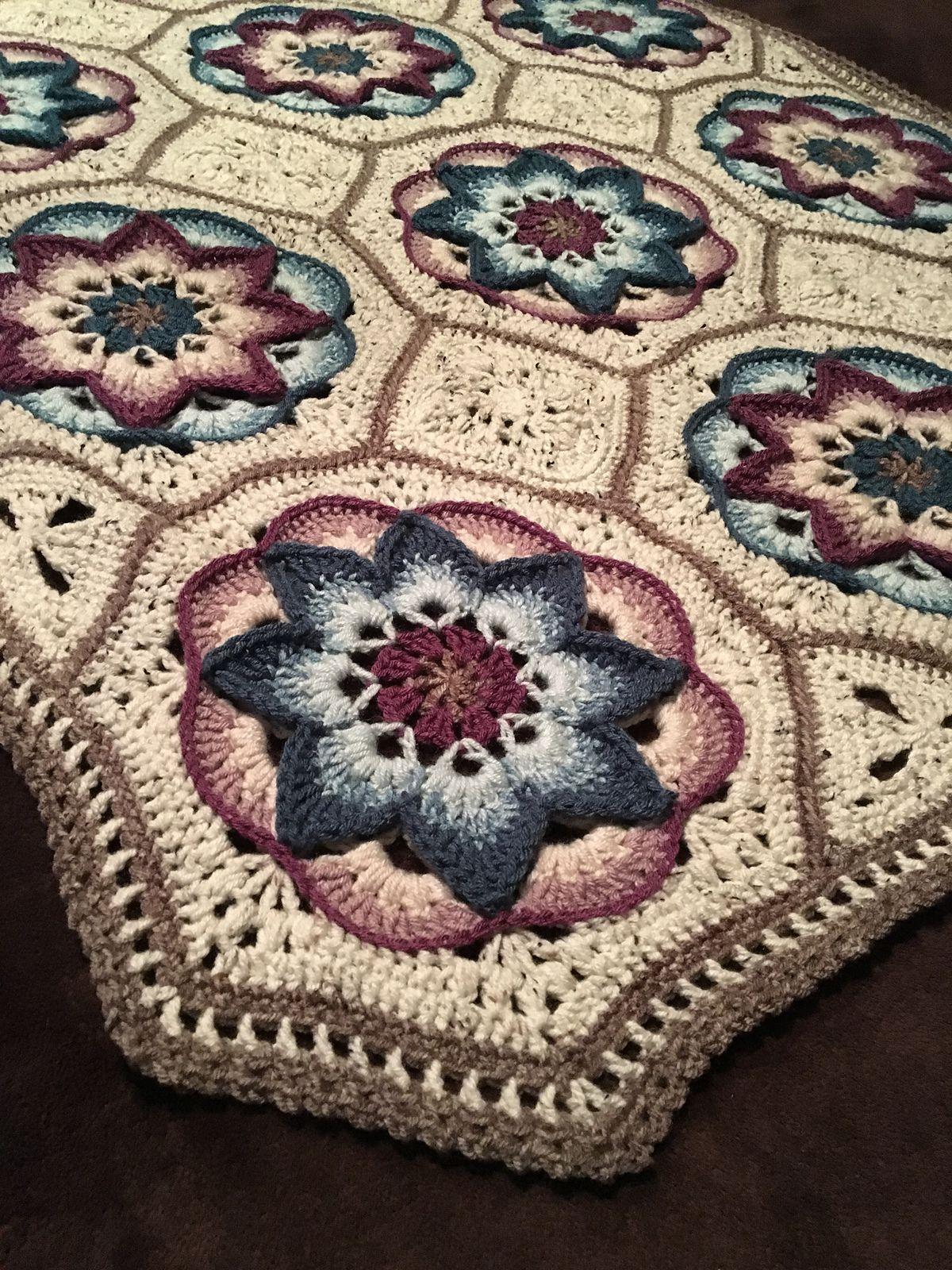 Mandala Crochet Blanket